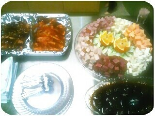 For a Christmas event. My signature half/half wings,  bathed meatballs and 3 cheese and 3 meat spread!