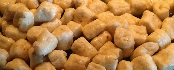 Up close potato gnocchi