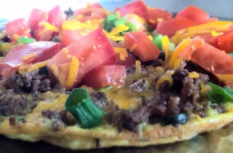 Open face omelette