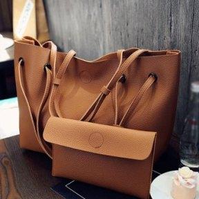 DL Leather Shoulder Bag