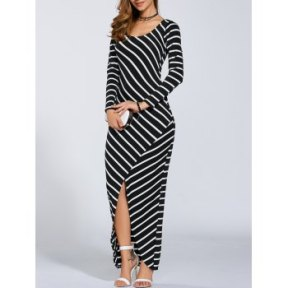 DL Print Slit Maxi Dress