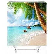 DL Sea Beach Shower Curtain