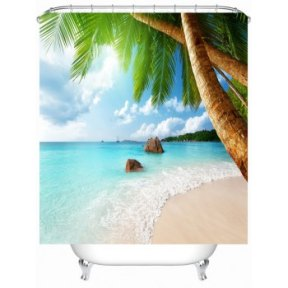 DL Sea Beach Shower Curtain