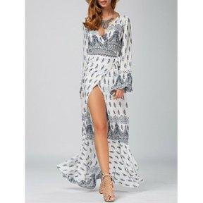 DL Slit Wrap Dress